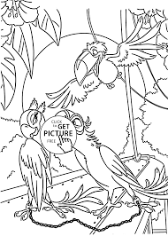 Small Picture Blu fall in love coloring pages for kids printable free Rio