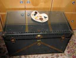 Black Steamer Trunk Coffee Table Glass Top Steamer Trunk Coffee Table Appearance Details For