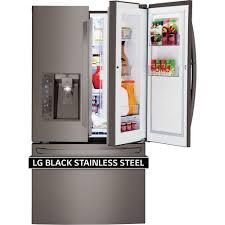 lg black stainless steel refrigerator. LG Appliances DIAMOND COLLECTION\u0026trade;36\ Lg Black Stainless Steel Refrigerator