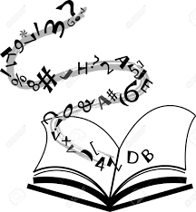 1200x1300 open book with falling letters over white background royalty free
