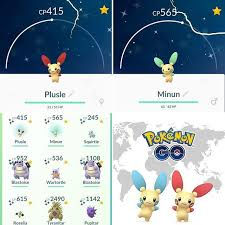 Pokemon Plusle Evolution Chart Has Everyone Been Able To Catch Their Pokemongo Shiny