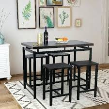 round pub table and chairs details about dining table with 4 chairs counter height kitchen dining round pub table and chairs