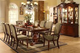 II Double Pedestal Solid Wood Dark Cherry 9pc Elegant Formal Solid Wood Formal Dining Room Sets