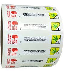 Small Washington Marijuana Not For Kids Tamper Evident Labels