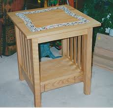 Custom Made Tile Top Coffee Table And End Table