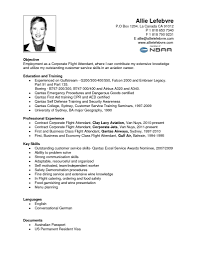 Awesome Collection Of Sample Resume For Cabin Crew With No