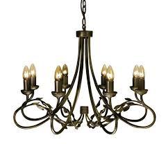 olivia black gold 8 light chandelier elstead lighting