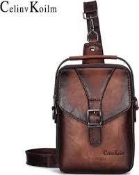 <b>Celinv Koilm</b> New Vintage Men Shoulder Bag <b>Fashion</b> Business ...