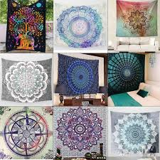 2019 size 130cmx150cm indian mandala tapestry hippie wall hanging elephant peacock bohemian bedspread beach towel blue green square beach towels from