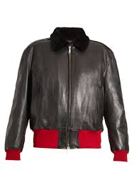 calvin klein 205w39nyc bi colour leather er jacket