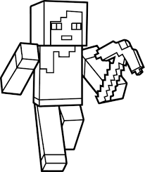 Free Coloring Pages For Girls Minecraft Cutouts Blocks Game