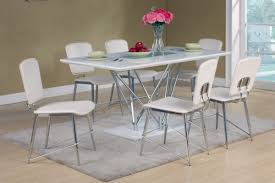 white high gloss dining table and 6 matching chairs set