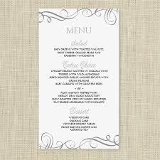 Wedding Menu Card Template Download Instantly Edit