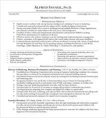 Sample Resume for Marketing Director