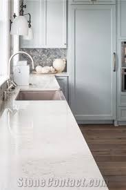 carrara white marble white quartz stone countertops non porous standard sizes 108 26inch with competitive and quality more durable than granite