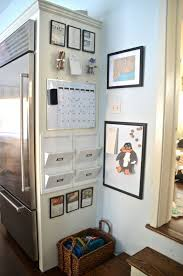 kitchen organization station/ far right of kitchen near windows