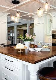 modern kitchen chandelier lighting beautiful farmhouse style 3 jar glass