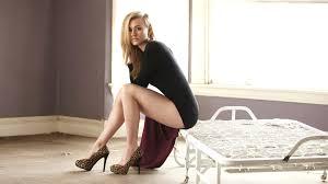 Hot blonde in high heels