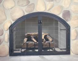image of fireplace doors style
