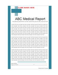 Sample Report Template