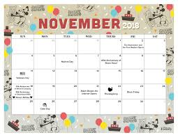 November November Calendar November 2018 Calendar For The Whole Family Disney Family