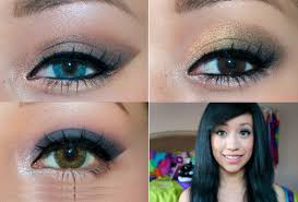 makeup looks for homeing 2018 ideas pictures tips about make up prom makeup blue dress green eyes