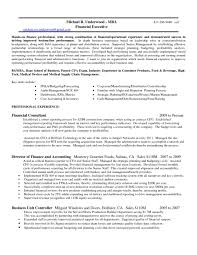 Nice Resume Sample For Financial Controller And Financial Finance