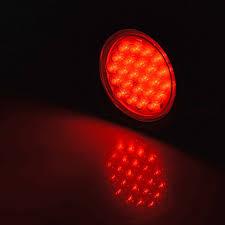 """<b>2pcs 4</b>"""" Round RED 24-<b>LED</b> Brake Stop Running <b>STROBE</b> Tail ..."""