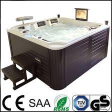 deluxe tv hot spring hot tub outdoor spa bathtub