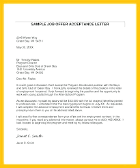 Offer Acceptance Email Sample Job Offer Email Template Accepting A Sample Acceptance