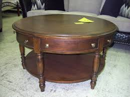 antique round wood coffee table rustic