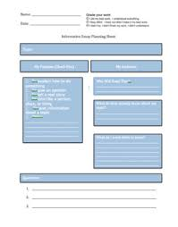 informative essay planning sheet by aileen routledge tpt informative essay planning sheet