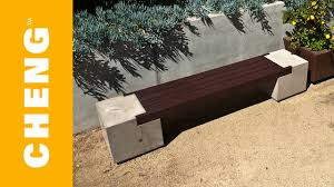 concrete garden bench. Make A Concrete And Wood Bench With CHENG Outdoor Mix 2x4\u0027s - YouTube Garden