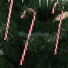 Plastic Candy Cane Decorations Cute Red White Plastic Candy Cane Xmas Tree Hanging Decoration 60 44