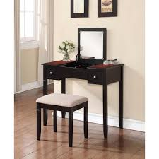 linon home decor camden 2 piece black cherry vanity set