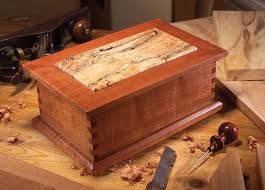 trered wood jewelry box