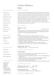 Professional Chef Resume Professional Chef Resume Sample Examples ...