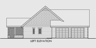 One Story House Plans  House Plans With Bonus Room  House PlansHouse side elevation view for  fb One story house plans  house plans