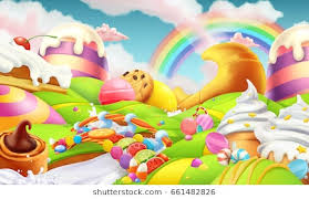 candyland board background. Brilliant Board Candy Land Candies And Milk River 3d Vector Background And Candyland Board Background
