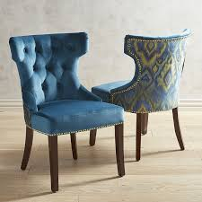 blue dining room chairs unique hourglass plume teal dining chair with espresso wood