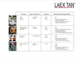 Fake Tan Colour Chart Laex Tan Luxury Clear Spray Tan Solution 1000ml