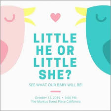 Gender Reveal Invitation Templates Beautiful Gender Reveal Invitation Templates Collection