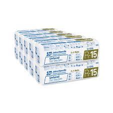 r 15 unfaced fiberglass insulation batt 15 in x 93 in 10 bags u1319 the home depot