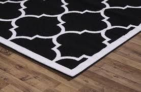 area rugs large modern geometric moroccan trellis thin carpet black large modern geometric moroccan trellis thin carpet black