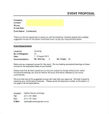 Event Proposal Sample Word Document Template Business Planning Sales ...
