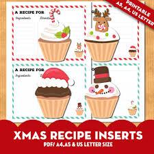 Printable Christmas Recipe Cards Free Printable Christmas Recipe Cards Lovely Planner