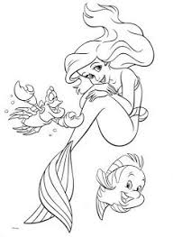 Small Picture Mermaid Ariel sad coloring page for kids disney princess coloring