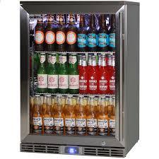 rhino 1 door alfresco outdoor glass door bar fridge model gsp1hl 840 ss