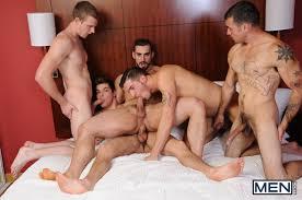 5 on 1 gay gang bang