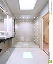 Partition Bathroom Design Shower With Glass Partition Stock Photo Image Of Business